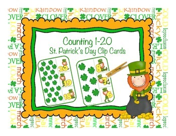 Counting 1-20 with Four Leaf Clovers - St. Patrick's Day C