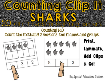 Counting Sharks Clip It {A Beginning Work Task)