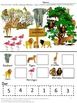 Math Centers Zoo Thremed No Prep Printables for Counting Addition