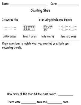 Counting Stars lesson add-on