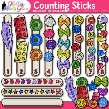 Counting Sticks Clip Art {Counting and Sorting Manipulativ