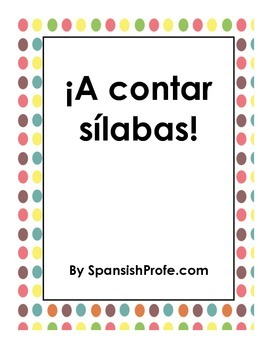 Counting Syllables in Spanish (A Contar Silabas)
