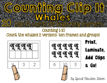 Counting Whales Clip It {A Beginning Work Task)