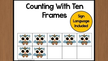 Counting With Ten Frames Owl