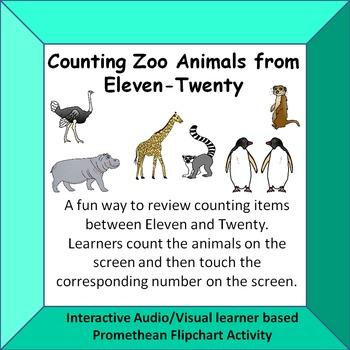 Counting Zoo Animals  Eleven - Twenty  Fun Interactive A/V