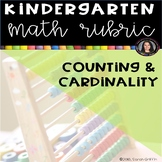 Kindergarten Math Rubric - Counting and Cardinality