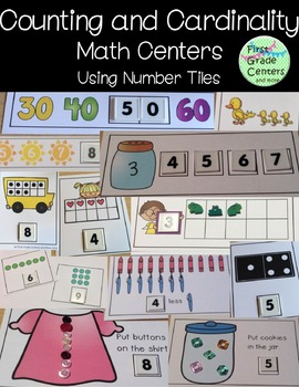 Kindergarten Math Centers Counting and Cardinality {No Prep}