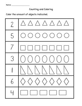 Counting and Coloring: Shapes