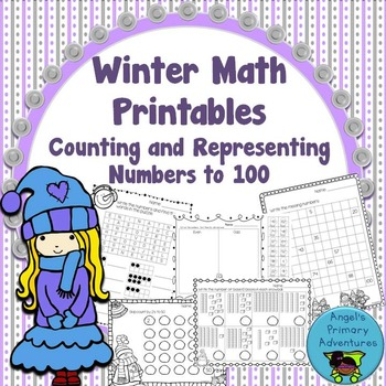 Counting and Representing Numbers:  Winter Themed Math Pri