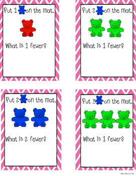 "Counting bears: ""Fewer"" task cards"
