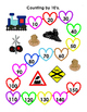 Counting by 10 Valentine Train Themed Work Sheet with Key