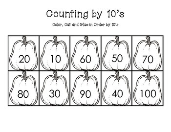 Counting by 10's Pumpkins