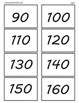 Counting by 10's 10-120 pages 2