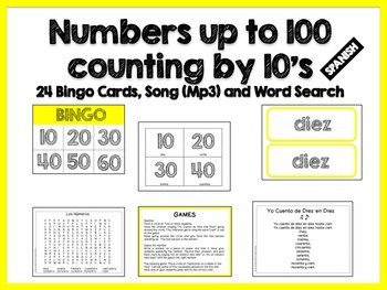 Counting by 10's in Spanish - Song (Mp3)