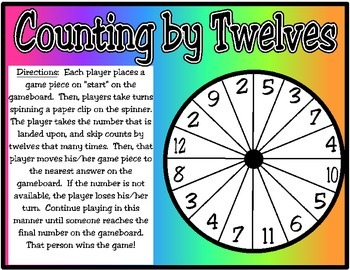 Counting by 12s Spinner Game