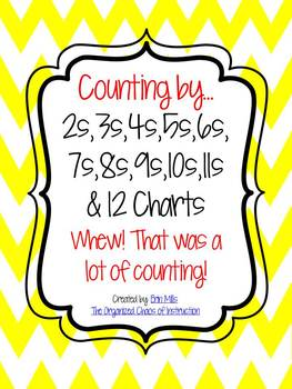 Counting by 2-12 Charts!