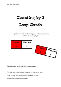 Counting by 2 - Loop Cards
