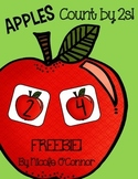 Counting by 2s Math Center: Apple Themed FREEBIE!