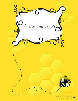 Counting by 5's Visual Flashcards with Free Tracing Page