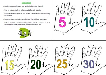 Counting by Fives A4 Posters