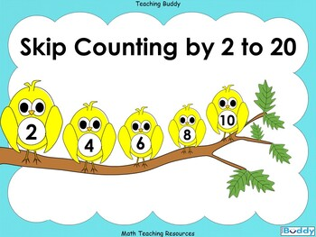 Counting in 2s to 20 (PowerPoint and worksheets)