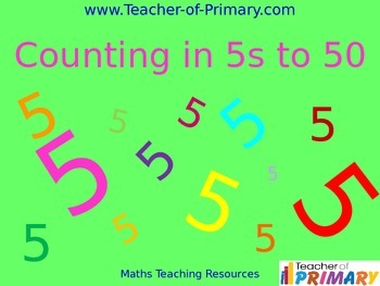 Counting in 5s to 50