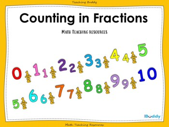 Counting in Fractions (PowerPoint, worksheets and wall display)
