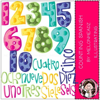 Melonheadz: Counting clip art - Spanish