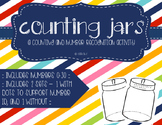 Counting jars - A counting and number recognition activity
