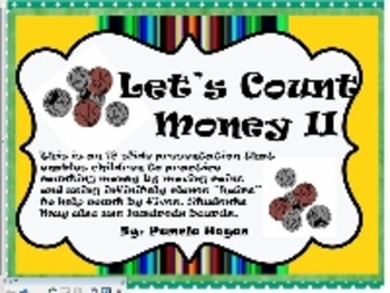 Counting money using the hundreds board-SmartBoard