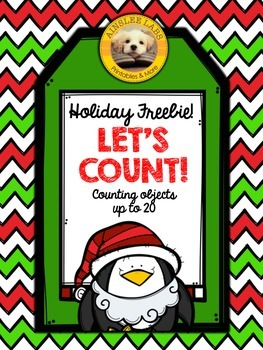 Counting objects up to 20 Holiday and Christmas Themed FREEBIE