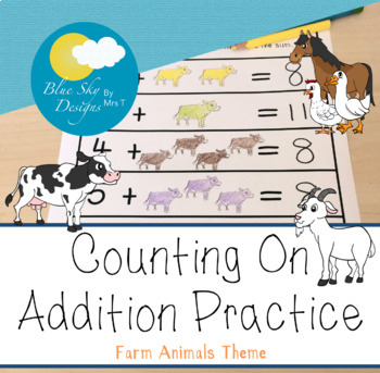 Counting on Addition (Farm Animals Theme)