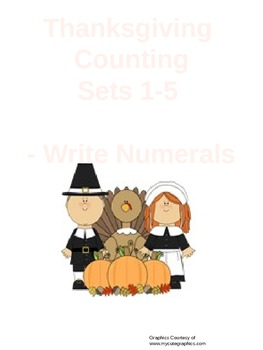 Counting sets 1-5 Thanksgiving Theme