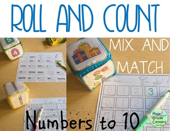 Counting to 10- Roll and Count Math Centers
