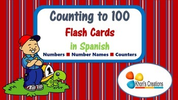 Counting to 100 Flash Cards in Spanish