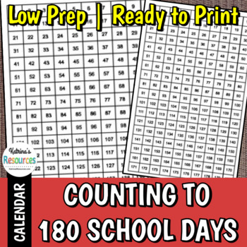 Counting to 180 Days of School
