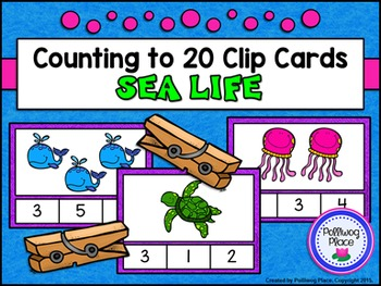 Counting to 20 Clip Cards: Sea Life