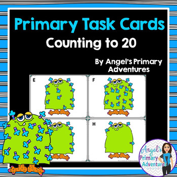 Counting to 20 Task Cards - Monster Themed