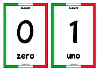 Counting to 20 in Italian