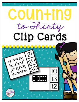 Counting to 30 Clip Cards