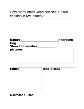NUMBER SENSE TEST / ASSESSMENTS  GRADE 1 -read, represent,