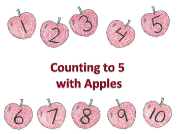Counting to 5 with Apples