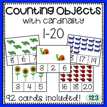 Counting with Cardinality Cards: 1-20