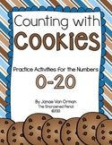 Counting with Cookies - Number Practice 0-20 (CCSS Aligned)