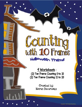Counting with Ten Frames  (Halloween Theme)