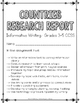 Countries Research Report: Multi-Draft Informative Writing