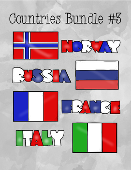 Countries Task Card Bundle #3