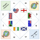 Countries- nationalities - symbols cootie catchers / Fortu