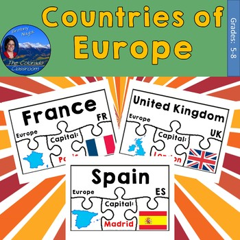 Countries of Europe Geography Puzzles