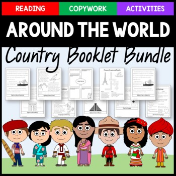Countries of the World Bundle - 14 activities and copywork books